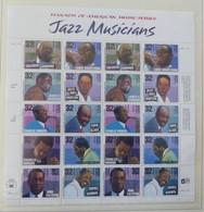 USA 1997  Mi 2627-27 Jazz Musicians  Pane 20  Postfrisch ** MNH   #XL638 - Blocchi & Foglietti