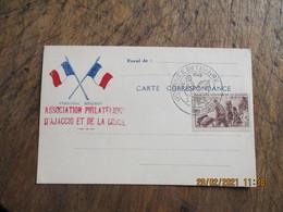 Ajaccio  Journee Du Timbre  1945  Association Philatelique Corse Et Ajaccio - 1921-1960: Periodo Moderno