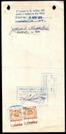 Bolivia 1978 Letra $b50.-.LITO UNIDAS. H&A Tipo #128 Formato Grande - 2x $b4.- Anaranjado Lito  Unidas - Bolivia