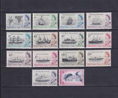 TRISTAN DA CUNHA 1965/67, SG# 71-84, Part Set, Elizabeth II, Ships, MNH - Tristan Da Cunha