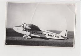 Photo : Avion, Aéroplane SAVOIA MARCHETTI Type S. 74 Pour Ala Littoria. I-ROMA Quadrimoteur - Guerra, Militari
