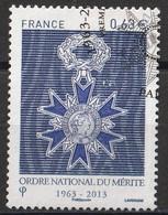 Timbre FRANCE YT N° 4830 Ordre National Du Mérite  De 2013   Obliltéré - Gebruikt