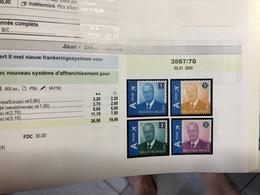 Postzegels België Volledige Jaargang 2009 - Full Years