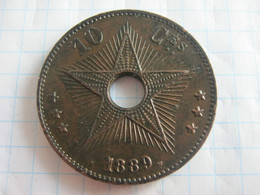 Congo Belgian 10 Centimes 1889 - 1885-1909: Leopold II