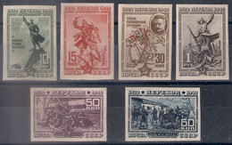 Russia 1940, Michel Nr 780B-85B, MLH OG - Unused Stamps