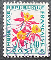 France YTYX100-Timbres Taxe Fleurs Des Champs 40 C Used Stamp 1964-71- FRAYX100U - Fiscaux
