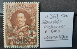 España N361* Con ( Sobrecarga Desplazada No Catalogado - Oblitérés