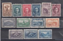 Bulgaria 1921/23 - Freimarken(Londoner Ausgabe), Mi-Nr. 156/66+176/77 (13 Werte), Used - Oblitérés
