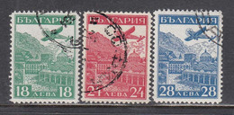 Bulgaria 1932 - STRASSBOURG, Par Avion, Mi-Nr. 249/51, Used - Oblitérés