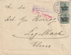 Occupation Allemande En Pologne Lettre Censurée Pour L'Alsace 1916 - Occupation 1914-18