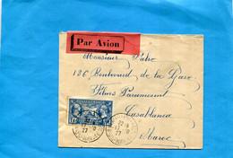 MARCOPHILIE-lettre-Avion   Pour Maroc  -cad 1927   N°245-légion Américaine--Seul Sur Lettre - 1921-1960: Moderne