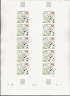 ST PIERRE ET MIQUELON - N° 498 NEUF XX EN FEUIILLE 10 AVEC COIN DATE -ANNEE 1989 - Neufs