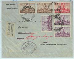 93960 - ARGENTINA - POSTAL HISTORY - REGISTERED COVER From Comodoro Rivadavia To JAVA 1946 - Cartas