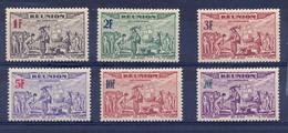 REUNION FR- 1942- Poivres Epices Dans L'ile Bourbon - PA 18 à 23 (N**) - Airmail