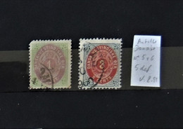02 - 21  // Old Stamps - Antilles Danoises N° 5 Et 6 /  Le N°5 Est 2ème Choix - Danemark (Antilles)