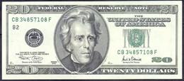 USA 20 Dollars 2001 B  - XF+ # P- 512 < B2 - New York NY > - Billets De La Federal Reserve (1928-...)