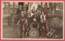 "Rodez Aveyron : Carte Photo Conscrits Classe 1927 - Accompagnement Accordéon "" Jazz Bonheur Lafon "" - Rodez"