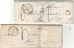Cachet MAREUIL SUR BELLE Dordogne Sur DEUX Lettres Pour Brive Correze ( Une Avec OR ) Avec Leur Texte ... TTB - 1801-1848: Précurseurs XIX