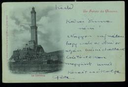 Genova Un Saluto Da La Lanterna Pionere 1898 - Genova (Genoa)