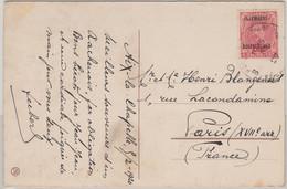 Belg. Militärpost Deutschland - 10 C. AK Koblenz V. Aachen Postes Militäre 1920 - Occupation 1914-18