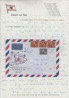 Portugal - Azoren Postboje MS Brunsholm Nebenstpl. Luftpostbrief 1968 - Postwaardestukken