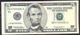 USA 5 Dollars 1999 B  - XF # P- 505 < B - New York NY > - Billets De La Federal Reserve (1928-...)