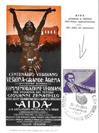ITALIE - Centenario Verdiano - Centenaire - Aïda - VERDI - - Cad VERONA Vérone 15 07 1971 - Saverio Mercadante - 1981-90: Marcophilie