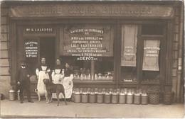 Dépt 75 - PARIS (76 R. Du Rendez-vous) - CARTE-PHOTO Devanture Magasin BEURRE OEUFS FROMAGES Maison G. LALAURIE - (lait) - District 12