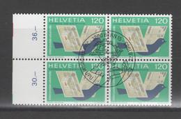 Schweizer Ämter / UPU, Michel-Nr. 14 Gestempelt, 4er-Block - Officials