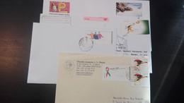 ATM - 4 Cartas Circuladas (T. UEFA, Sport, Bird, Animal, Butterfly) - Vignette Di Affrancatura (ATM/Frama)