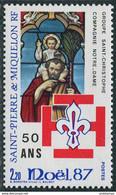 St. Pierre Et Miquelon 1987. Mi.#553 MNH/Luxe. Celebrations. Christmas. Scouts. (L38) - Neufs