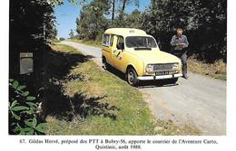 Poste Postes - 4 L Renault - Gildas Hervé Préposé PTT - Facteur - BUBRY - 56 - Morbihan - Aoüt 1988 - Postal Services