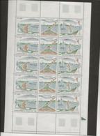 ST PIERRE ET MIQUELON -  N° 509 A -TRIPTYQUE  FEUILLE DE 5 - ANNEE 1989 - COTE / 50 € - Neufs