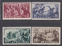 Bulgaria 1952 - 40. Jahrestag Der Grundung Des Jugendverbandes, Mi-Nr. 826/29, MNH** - Unused Stamps