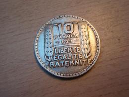 10 Francs TURIN - F.360 Argent - Silver : 680 %o - 1929. - K. 10 Francs