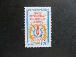 A). Saint Pierre Et Miquelon: TB N° 384, Neuf X. - Neufs