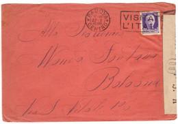 JJ18  Regno 1940 - Busta Verificato Per Censura, Da Padova A Bologna, Imperiale 50c. - Poststempel