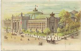 75 CPA  PARIS EXPOSITION DE 1900 LE GRAND PALAIS  CARTE EN TRANSPARENCE SYSTEME N°21 - Controluce