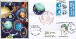 JAPAN, Astronomical World 2021.  Letter From Japan Sent To Andorra., With Arrival Postmark - Sterrenkunde