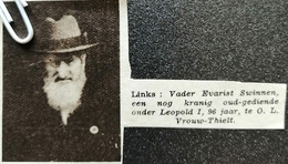 O.L. VROUW-TIELT..1938.. EVARIST SWINNEN OUD GEDIENDE ONDER LEOPOLD I 96 JAAR - Ohne Zuordnung