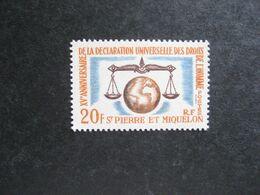 A). Saint Pierre Et Miquelon: TB N° 370, Neuf X. - Neufs