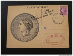 Carte Maximum Maximum Card Ceres De Mazelin LIberation De Dijon 1945 - Lettres & Documents
