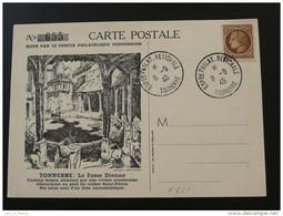 Carte Postcard Exposition Philatélique Tonnerre 1946 Yonne - Lettres & Documents