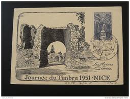 Carte Locale Journée Du Timbre 1951 Nice - Stamp's Day