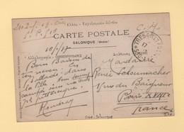 Armee D Orient - Tresor Et Postes 510A - Cpa De Salonique - 1917 - Guerra De 1914-18