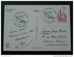 Carte Postcard Internationaux De France Tennis De Table Strasbourg 1982 - Table Tennis