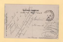 Armee D Orient - Tresor Et Postes 502 - Cpa De Salonique - 1916 - Guerra De 1914-18