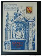 Carte Postcard Exposition Philatélique Nancy 1948 - Lettres & Documents