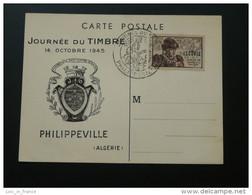 Carte Maximum Card Journée Du Timbre 1945 Philippeville Algérie - Briefe U. Dokumente