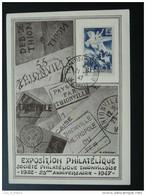Carte Postcard Exposition Philatélique Thionville 1947 - Lettres & Documents